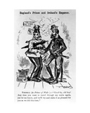 England's Prince and Ireland's Emperor  Illustration from 'Puck Magazine'  1885