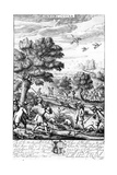 Hunting the Otter  from 'The Gentleman's Recreation' Published by Richard Blome  1686