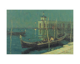 The Dogana by Night  Venice