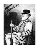 The Yeoman of the Guard  Print Made by Charles Waltner  1893