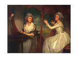 Lady Caroline Spencer  Later Viscountess Clifden  and Her Sister  Lady Elizabeth Spencer  1786-92