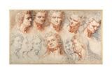 Thirteen Studies Based on a Roman Imperial Head