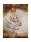 Ballerina Reading Le Figaro  C1885