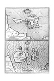 Maps of Holy Island and Farne Island  Northumberland  from 'The Theatre of the Empire of Great…