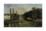 The Porte Du Rivage in Brussels  1877