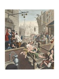 Gin Lane  Illustration from 'Hogarth Restored: the Whole Works of the Celebrated William Hogarth …