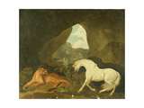 Lioness and White Stallion  1760