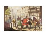 Mrs Quickly Has Sir John Falstaff Arrested in Henry IV  Part 2  from 'The Illustrated Library…