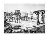 Transporting a Cart in Pieces  from 'travels to Brazil'  Engraved by Thierry Freres (Fl1827-45) …