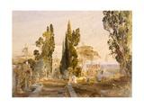 The Villa D'Este  Tivoli  1837