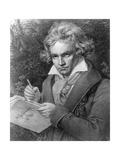 Ludwig Van Beethoven Composing His 'Missa Solemnis'  1819