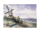 A Windmill at Stoke by Nayland  Near Ipswich  Suffolk  1814