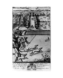 Coursing with Greyhounds  from 'The Gentleman's Recreation' Published by Richard Blome  1686