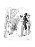 No  No  Stay Where You Are'  Illustration from 'Pride and Prejudice' by Jane Austen  Edition…