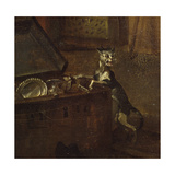 Cat with a Chest  Detail from 'A Rake's Progress I: the Rake Taking Possession of His Estate' …