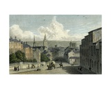 Newcastle from Westgate Hill  Engraved by Edward Finden  1830