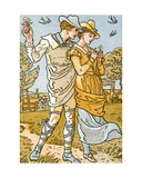 It Was a Lover and His Lass'  Song Illustration from 'Pan-Pipes'  a Book of Old Songs  Newly…