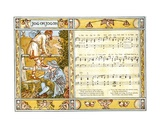 Jog On  Jog On'  Song Illustration from 'Pan-Pipes'  a Book of Old Songs  Newly Arranged and with…