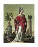 Sybil of Eritrea with Her Insignia  1796