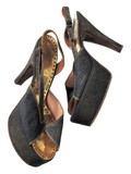 Gold Lame Mules Worn by Marilyn Monroe  Labeled Anello and Davide  London  C1956