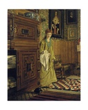 Portrait of Laura  Lady Alma-Tadema  Probably Entering the Dutch Room at Townshend House …