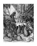 The Council Held by the Rats  from the Fables of La Fontaine  Engraved by Antoine Valerie…