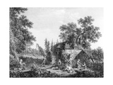 The Hop Pickers  Etched by Francis Vivares  1760