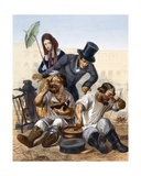 Rich Couple Speak to a Pair of Drunken Carpenters Cooking and Eating in the Street  1843