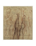 The Risen Christ  Three-Quarter Length Nude Drawn over Studies of a Leg and a Foot