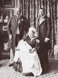 Queen Victoria Holding King Edward Viii at His Christening on July 16th  1894