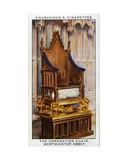 The Coronation Chair of Saint Edward in Westminster Abbey  1937
