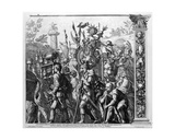 The Triumph of Caesar  Plate 6  Engraved by Robert Van Audenaerde  1692