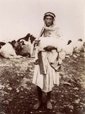 A Shepherd Boy Carrying a Lamb  C1894-1914