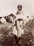 A Shepherd Boy Carrying a Lamb  C1894-1914