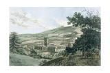 Bath  from the Private Road Leading to Prior Park  from 'A Picturesque Guide to Bath  Bristol…
