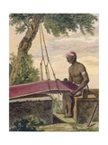Weaver of Cloth  from 'Voyage Aux Indes Et a La Chine'  Engraved by Poisson  1782
