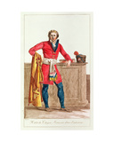 Civilian Costume for a French Citizen for Indoors  Engraved by Vivant Dominique Denon