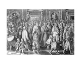 The Return of Cosimo I after His Coronation  Engraved by Philips Galle  1583