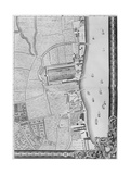 A Map of the Lower Rotherhithe Docks  London  1746
