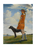 The Artist's Daughter Walking the Vicar's Dog  C1924
