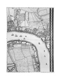A Map of Limehouse and Rotherhithe  London  1746