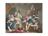 The Rake in Prison  Plate Vii  from 'A Rake's Progress'  Illustration from 'Hogarth Restored: the…