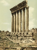 Peristyle of the Temple of Jupiter  Baalbek  C1880-1900
