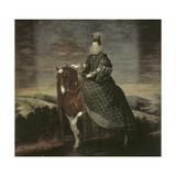 Portrait of Queen Margarita on Horseback