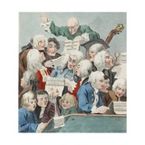 The Chorus or Rehearsal of the Oratorio of Judith  Illustration from 'Hogarth Restored: the Whole…