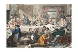 An Election Entertainment  Illustration from 'Hogarth Restored: the Whole Works of the Celebrated…