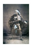 Japanese Samurai Warrior in Full Costume with Weapons  C1880s