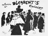 Poster Advertising a Concert at the Cafe Des Decadents  16Bis Rue Fontaine  Paris  C1900
