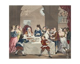 Sancho at the Feast Starved by His Physician  Illustration from 'Hogarth Restored: the Whole…