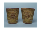Pair of Cuffs  Sapoznikov Brocade Company  1896